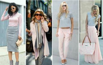 Как правильно сочетать цвета в одежде голубой-розовый