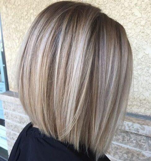 Красивые женские стрижки для волос средней длины светлое каре