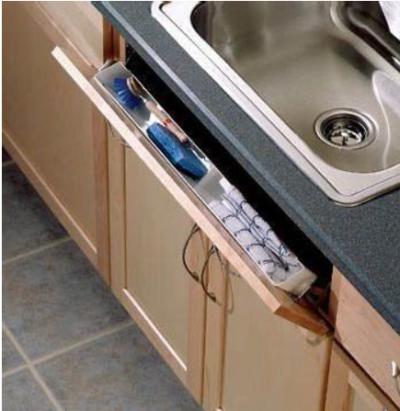 идеи для маленькой кухни: ложные ящики