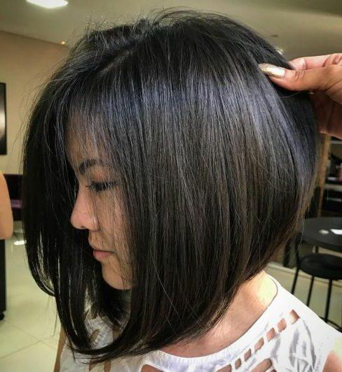 Красивые женские стрижки для волос средней длины каре черные