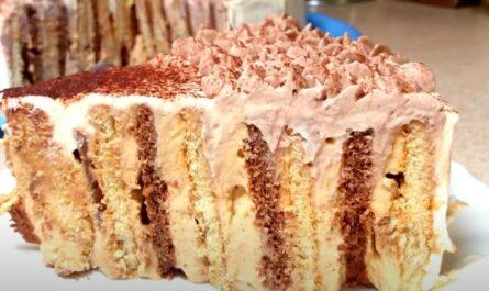 вкусный и быстрый торт без выпечки
