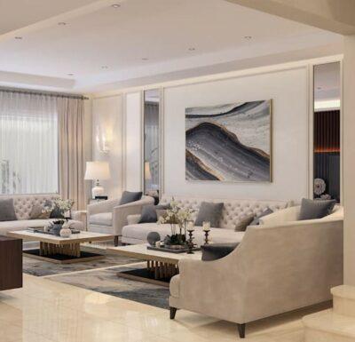 Гостиная в квартире в скандинавском стиле