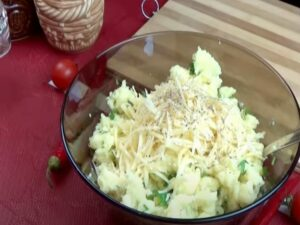 картошка,сыр
